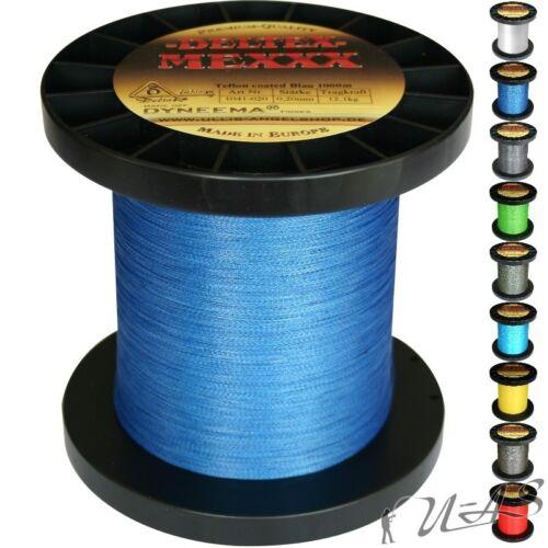 Deltex Mexxx Hi-Tec Rund Geflochtene Angel Schnur Teflon 0,25 110M Blau Sha