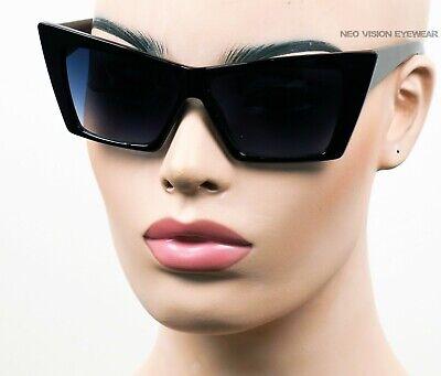 Oversized Extra Large Cat Eye Sunglasses Pinup Vintage Style Smoke//White K583