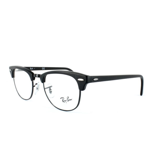 Ray-Ban Glasses Frames 5154 Clubmaster 2077 Matt Black 51mm | eBay