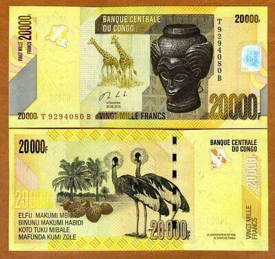 10000  FRANCS 2013 Prefix S  P 103b  Uncirculated CONGO DEMOCRATIC