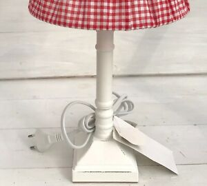 Lampenfuss-weiss-Holz-28-cm-hoch-E27-Shabby-Vintage