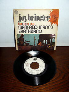 PROMO-VERTIGO-MANFRED-MANN-039-S-EARTHBAND-7-034-RARE-PS-ITALY-1973-JOYBRINGER