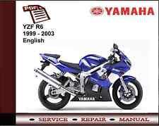 Yamaha YZF R6 YZFR6 1999 - 2003 Workshop Service Repair Manual