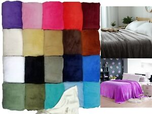 Sumptuous-Light-Winter-Blanket-Soft-Throw-20-Solid-Colors-All-Bed-Sizes-New