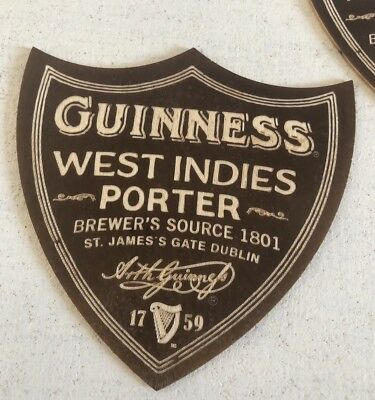 """RARE GUINNESS /"""" WEST INDIES PORTER /"""" BEER MAT//COASTER  PLYWOOD NEW"""