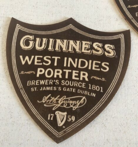Rare Lot Of 5 Offical Guinness Wooden Coasters Mats West Indies Porter !