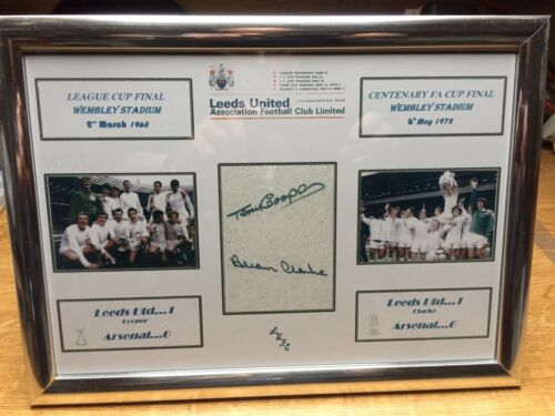 Leeds United 1972 /& 1968 Cup Final  Signed by COOPER /& CLARK  ORIGINAL REPRINT