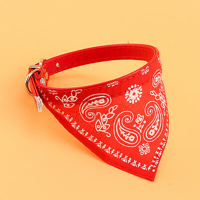 Small Adjustable Pet Dog Puppy Cat Neck Scarf Bandana with Collar Neckerchief