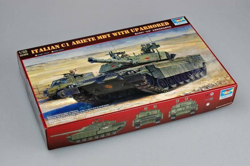 00394 Trumpeter Italian C1 Airete MBT with Armored Tank Static 1 35 Model Kit