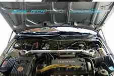 97-01 Honda Prelude BB5-BB9 Black Strut Hood Shock Gas Lift Stainless Damper Kit