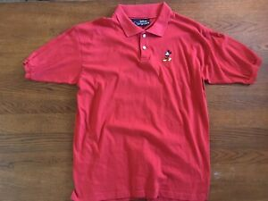 946ba5625 Image is loading VINTAGE-DISNEY-ORIGINALS-EMBROIDERED-MICKEY-MOUSE-RED-POLO-