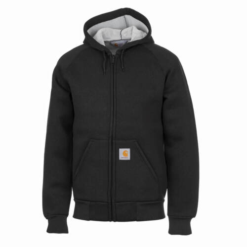 Carhartt Wip CarLux Hooded Jacket Black Thermo Layer Hooded Jacket for Men