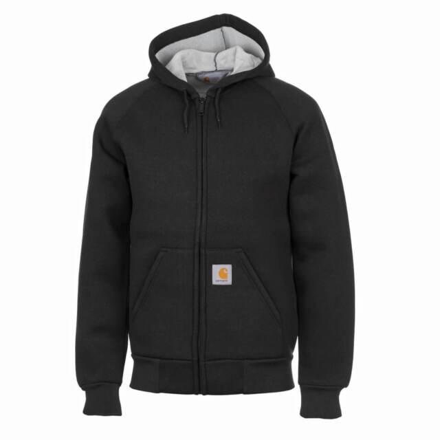 Carhartt Car Lux Hooded Jacket - Black Grey Felpa cappuccio Uomo XL 0a2d4076171d
