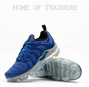 separation shoes 971b9 e0a2f Details about Nike Air Vapormax Plus Game Royal Wolf Grey Racer Blue Black  Men's Trainers