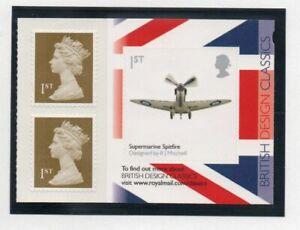 Great Britain Sc 2833a 2010 British Design Spitfire stamp booklet mint NH