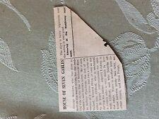 M3-7a ephemera. 1941 dagenham film review george sanders house of seven gables