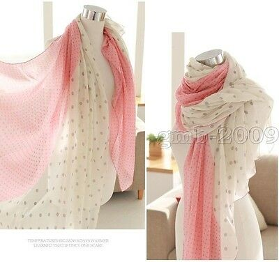 Fashion Women Long Dot Cotton Scarf Wrap Ladies Shawl Girls Large Scarves