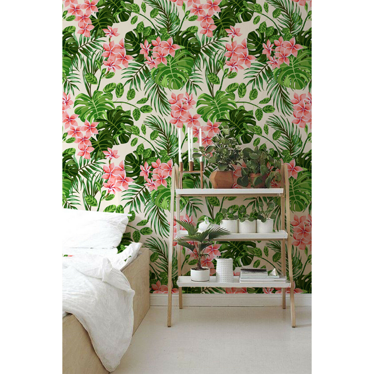 Bright Hawaii Non-Woven wallpaper WaterFarbe wall mural Leaves Floral Home decor