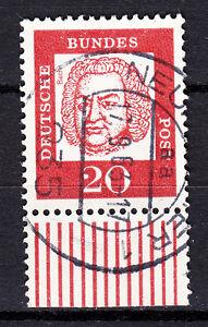 BRD 1961 Mi. Nr. 352 Fl. Papier mit Unterrand TOP Vollstempel gestempelt (18587)
