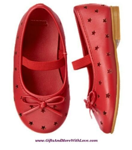 Gymboree NWT Red 4th of JULY STAR MARY JANE BOW FAUX LEATHER DRESS SHOE US 3 5 6