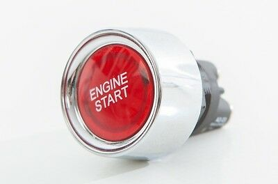 Engine Push Start Button Ignition Kit Car Starter Red 4