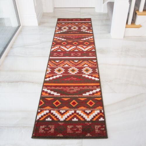 Cheap Kilim TapisPetit Large Tapis en venteROUGE /& ORANGE motif aztèque Tapis