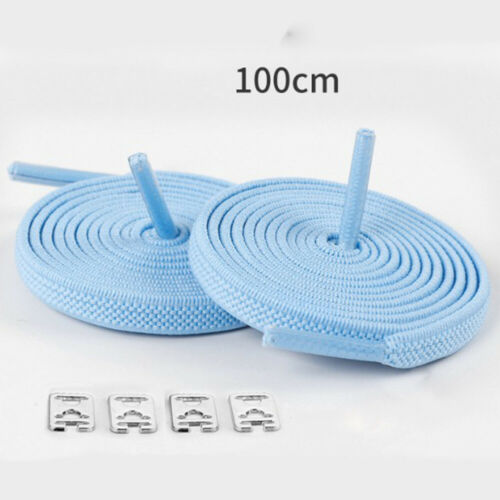 Flat Elastic No Tie Shoelaces Trainer Running Sneaks Shoe laces Shoe Rope String