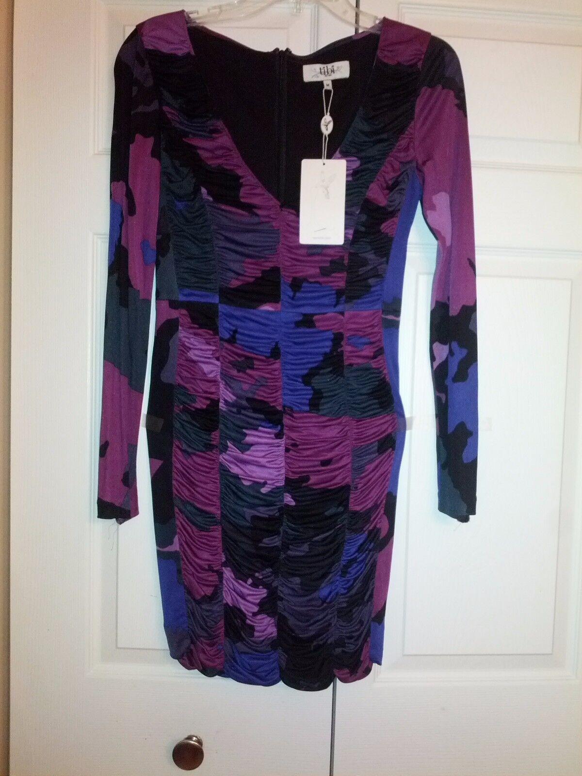 NWT Tibi draped multicolor dress dress dress Size M bb89ef