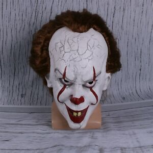 Movie Stephen King's IT Clown Pennywise Halloween Cosplay Scary Mask Costume US 698775360667