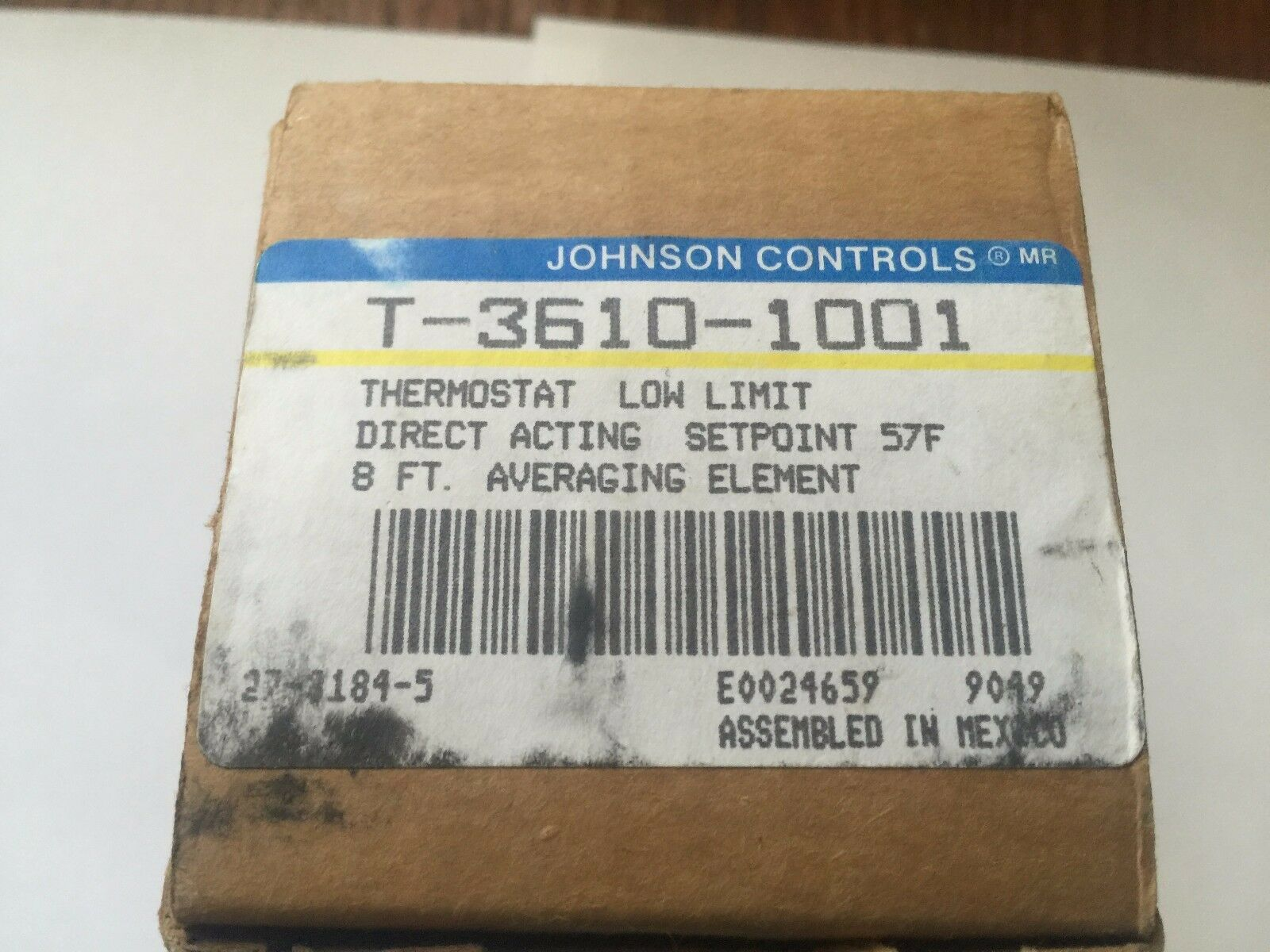 Johnson Controls T-3610-1001 Controlador de límite de de de baja neumática, 0-25 Psi 5d9501