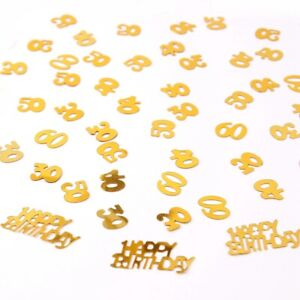 30-40-50-60th-Gold-Birthday-Party-Table-Confetti-Scatter-Sprinkle-Throwing-Decor