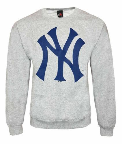 New XXL S Grey New York Yankees Majestic Men/'s MLB Sweatshirt XL