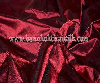 DARK RED 100% PURE SILK FABRIC for BRIDESMAID DRESS DRAPE SKIRT PROM SCARF