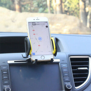 Universal-Car-SUV-CD-Slot-Mobile-Phone-GPS-Sat-Nav-Stand-Holder-Mount-Cradle-Fad