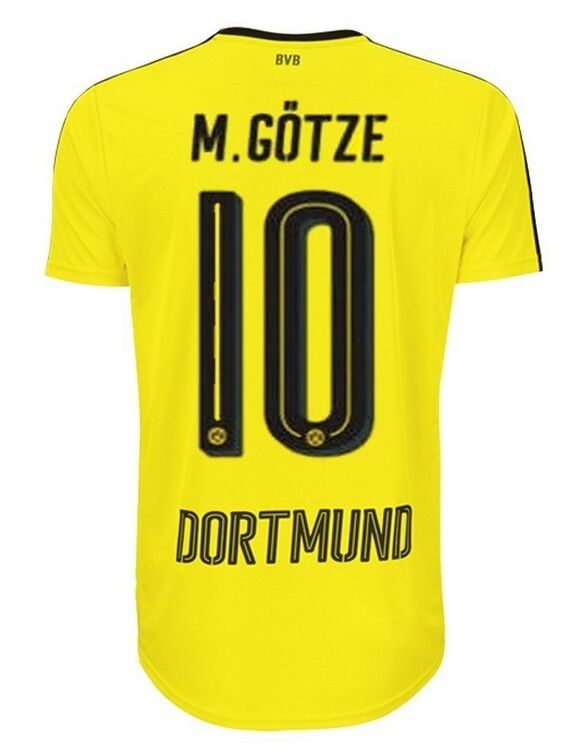 Trikot Puma Borussia Dortmund 2016-2017 2016-2017 2016-2017 Home - Götze 10  BVB Fussball 1837e6
