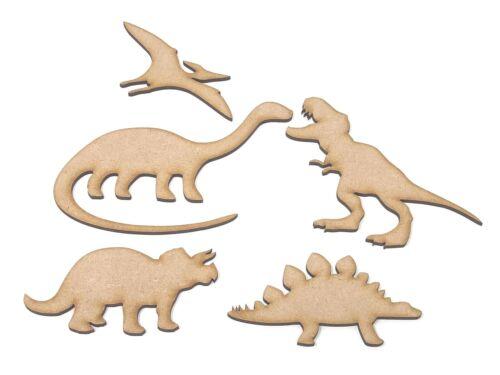 Pterodactyl Stegosaurus Triceratops Brontosaurus Dinosaur craft shapes T Rex