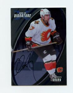 02-03-BE-A-PLAYER-BAP-SIGNATURE-AUTOGRAPH-AUTO-99-CHRIS-DRURY-FLAMES-58323