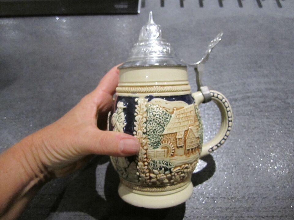 Keramik, øl krus