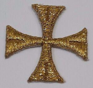 Vestment-Estola-Cuadrado-Cruz-Bordado-para-Coser-Oro-Cojos-2-034-Emblema-12-PC