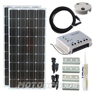 Stromerzeugung 200w 12v Solar Spar Set Für Kastenfahrzeuge Komplett Solaranlage 200 Watt Top Elektro- & Sat-technik
