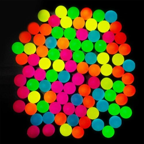 Bulk... Totem World 144 Glow in The Dark Bouncy Balls 25mm Neon Bounce Balls
