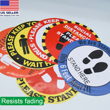 WEI MOLO@ Safety Floor Sign Marker Maintain 6 Foot Distance,Social Distancing Red//Black 16 Floor Sign Decal Sticker