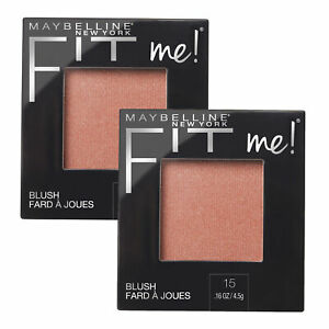 NEW Maybelline Fit Me Lightweight Natural Blendable Blush Colour Powder Nude x 2