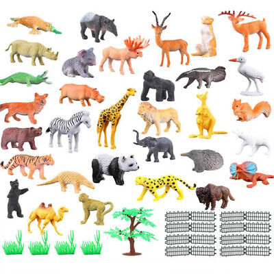 Small Plastic PCs Realistic Animals Wild Dinosaur Farm Play Kids Toy Set Xmas