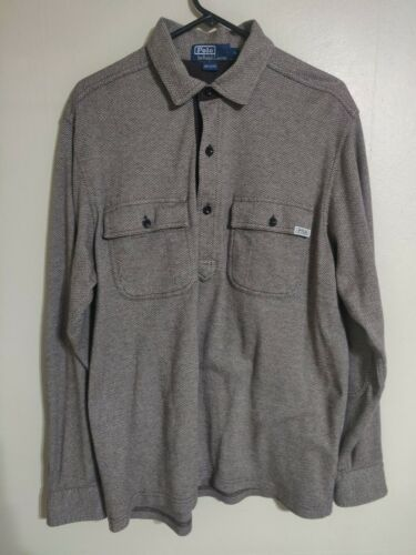 Vintage Polo Ralph Lauren Brown Herringbone L/S Po