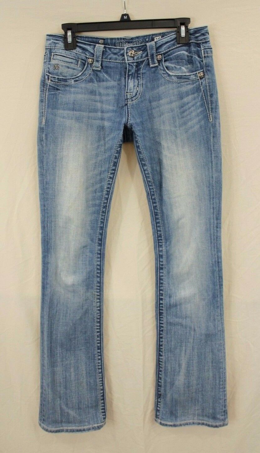 MISS ME BOOT CUT LOW RISE STRETCH JEANS SIZE 28