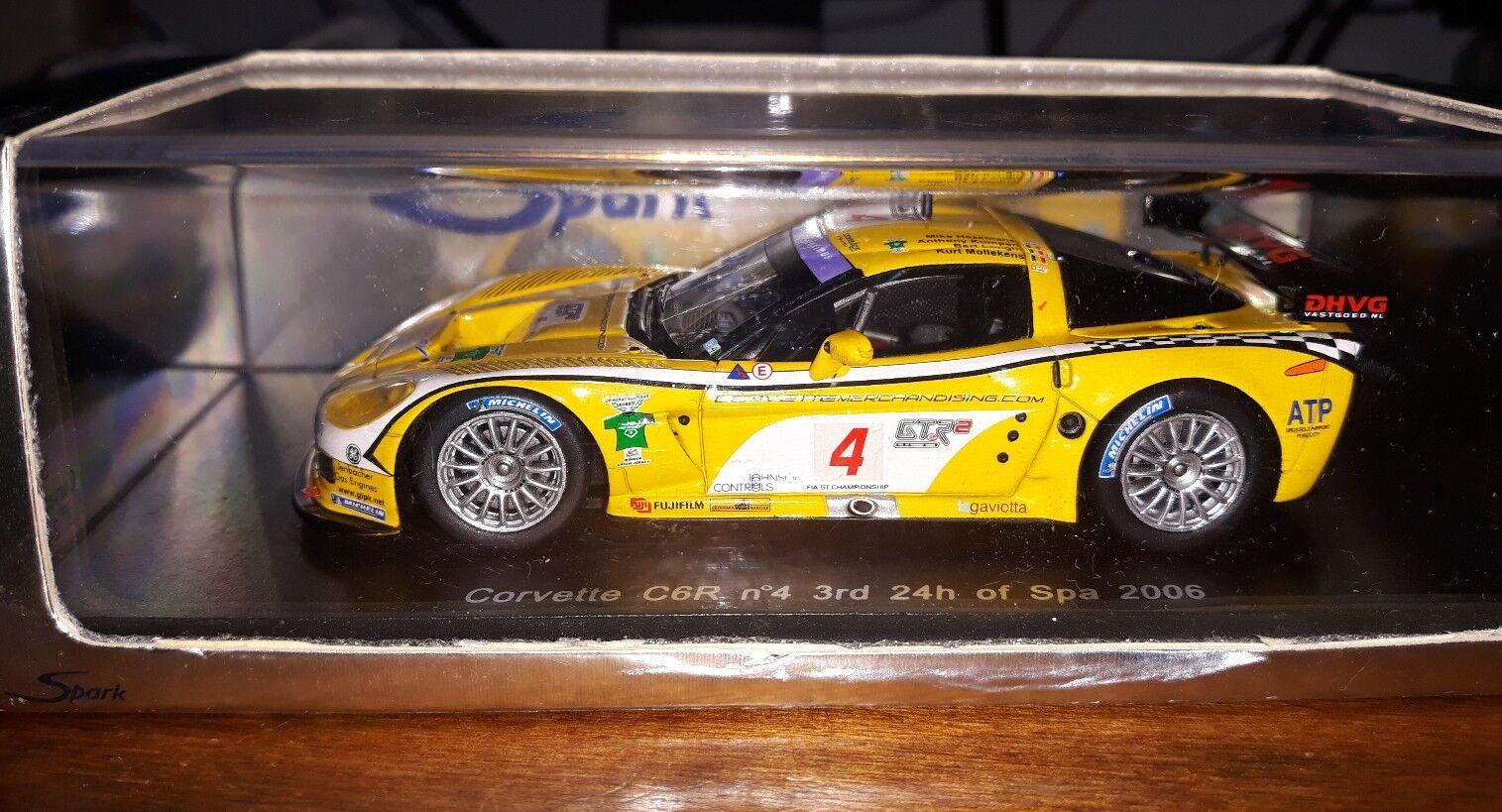 Spark 1 43 Corvette C6R C6R C6R  4 3rd 24 hours of Spa 2006 S0176 e22bca