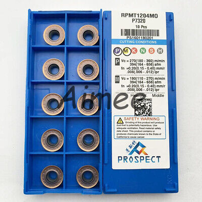 10pcs RDMT1204-MO LINN Carbide Inserts For Lathe Milling Cutter Tool