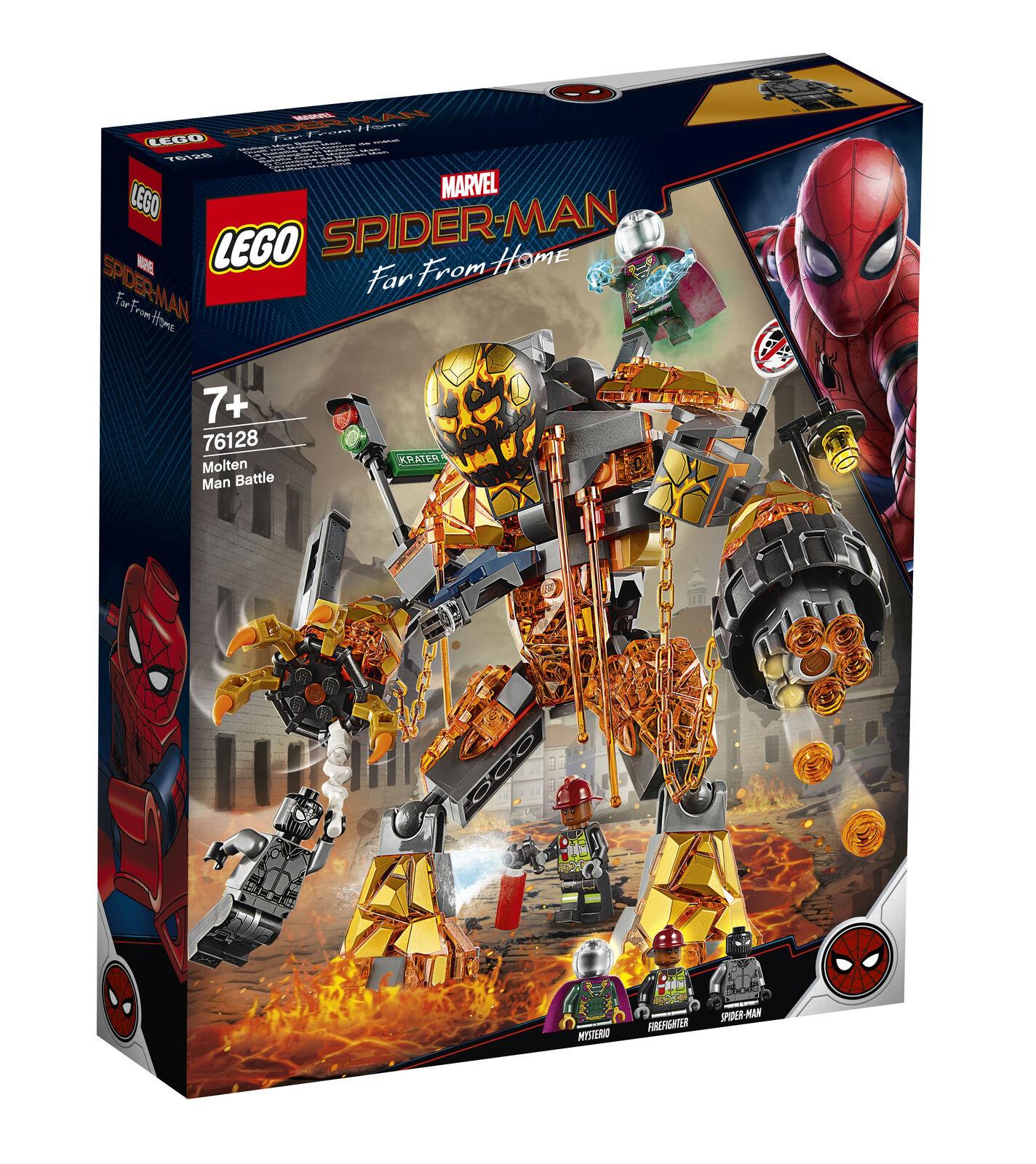 LEGO  76128 Marvel Super Heroes Uomo FUSO FUOCO Mostro Battaglia Edificio Giocattolo Set  forniamo il meglio