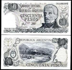 ND 1976-1978 UNC P-301b 50 Pesos Argentina